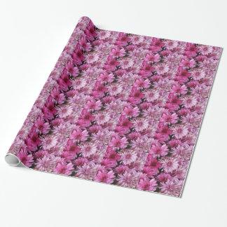 Pétalos rosados papel de regalo