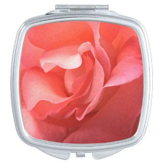 Pétalos suaves del melocotón rico compacto/del espejo maquillaje