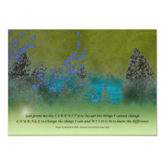 Pétalos y árboles del rezo de la serenidad invitación 12,7 x 17,8 cm