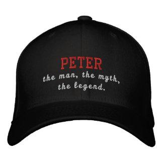 Peter el hombre, el mito, la leyenda gorra de béisbol bordada