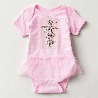 Peter Pan Pirouetting el tutú del ballet del bebé Body Para Bebé