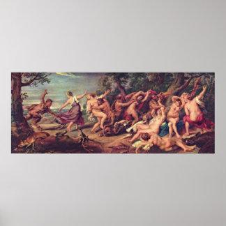 Peter Paul Rubens - Diana y las ninfas Posters
