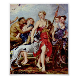 Peter Paul Rubens - Diana y ninfas por mañana Impresiones