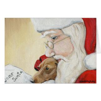 """""""Petición del Dachshund para tarjeta de Navidad de"""