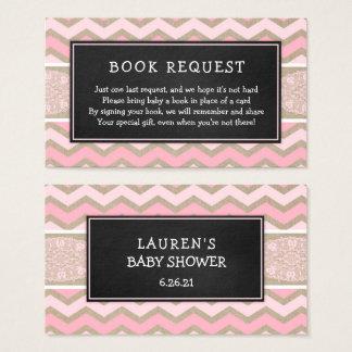 Petición rosada rústica 3656 del libro de la tarjeta de visita