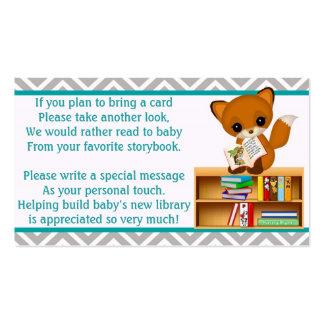 Peticiones del libro del Fox del bebé en vez de Tarjetas De Visita