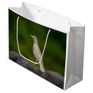 Petirrojo del albino en punto de la corona bolsa de regalo grande