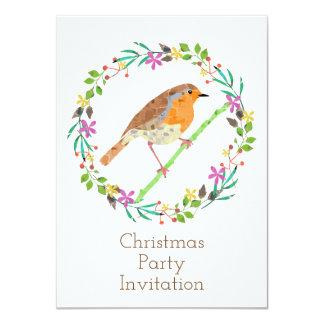 Petirrojo el pájaro de la invitación del navidad