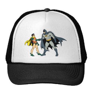 Petirrojo y apretón de manos de Batman Gorra