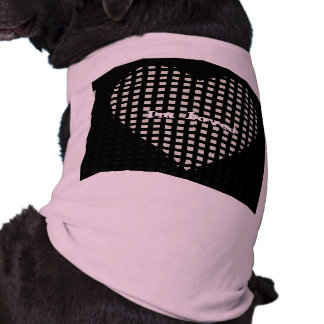 Pets_I'm Loved_Blk y Pink_Heart_TEMPLATE_ Camiseta Sin Mangas Para Perro