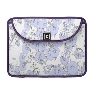 Petunias azules funda para macbook pro
