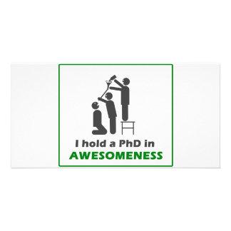 PhD en Awesomeness Tarjeta Fotográfica