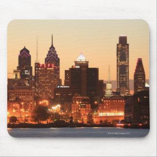 Philadelphia céntrica, Pennsylvania en la puesta d Alfombrilla De Ratón