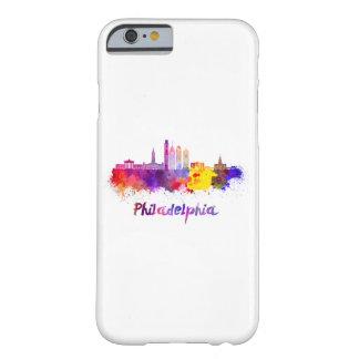 Philadelphia V2 skyline in watercolor Funda Barely There iPhone 6