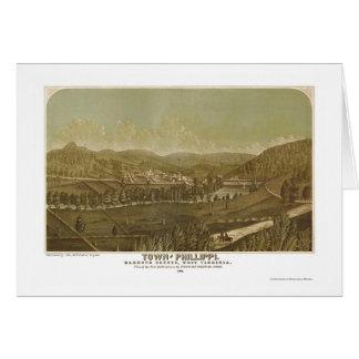 Phillippi, mapa panorámico de WV - 1861 Felicitacion