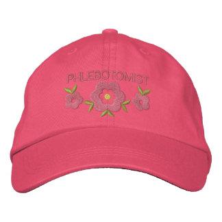 Phlebotomist bordó el gorra gorra bordada