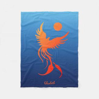 Phoenix de levantamiento en manta de las llamas