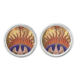 Phoenix de oro que sube de las cenizas gemelos