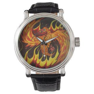 Phoenix en reloj de las llamas