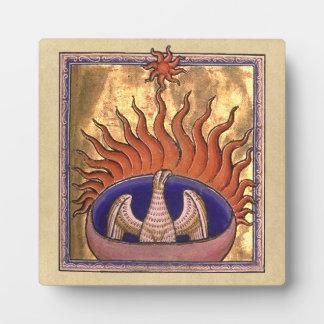 Phoenix que sube de las cenizas placa expositora