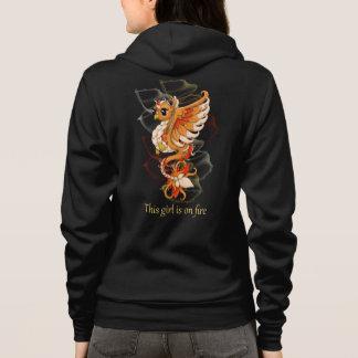 Phoenix relampaga para arriba sudadera con capucha