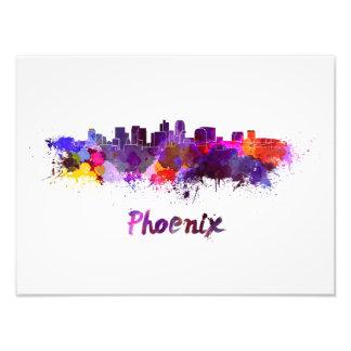 Phoenix skyline in watercolor foto
