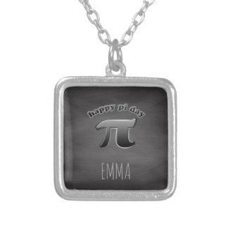 Pi día el   pi símbolo matemáticas profesores 14 collar plateado