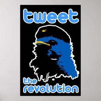 Pia el poster del pájaro de Che del estilo del