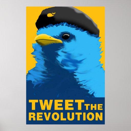Pia poster azul y amarillo de la revolución