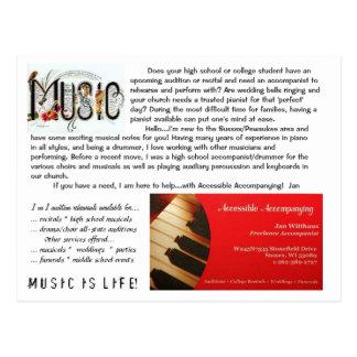 pianista/accompanist postal