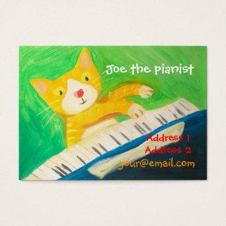 pianista, amante de la música tarjeta de negocios