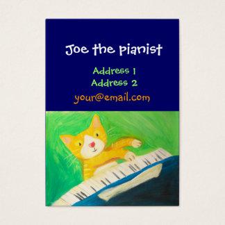 pianista, amante de la música tarjeta de visita