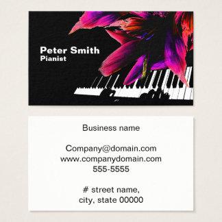 Pianista cariñoso tarjeta de visita