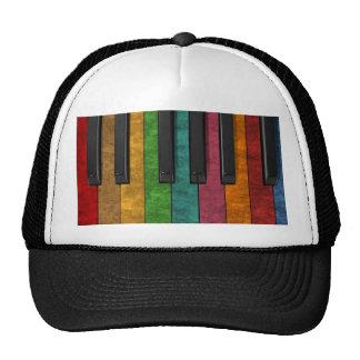 Piano antiguo colorido fresco del efecto del grung gorra
