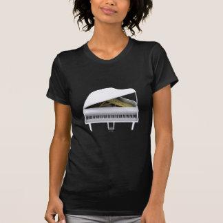 Piano de cola blanco: modelo 3D: Camiseta