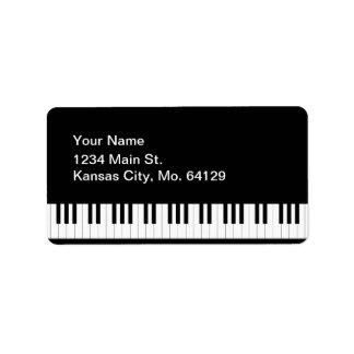 Piano de cola etiquetas de dirección