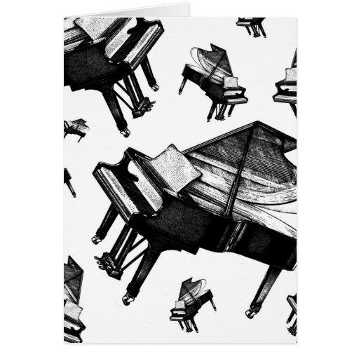 Piano de cola tarjetas