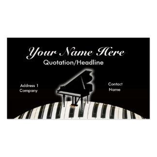 Piano de cola y teclado tarjetas de visita