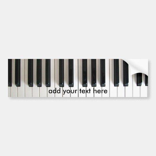 piano de la música pegatina para coche