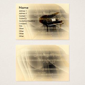 Piano de la música tarjeta de negocios