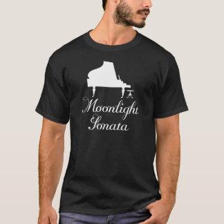 Piano de la sonata del claro de luna camiseta