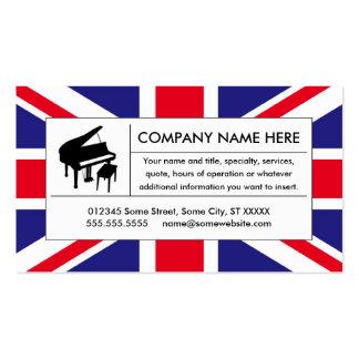 piano de Reino Unido Tarjetas De Visita