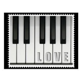 Piano del amor postal