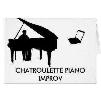 PIANO IMPROV DE CHATROULETTE TARJETA DE FELICITACIÓN