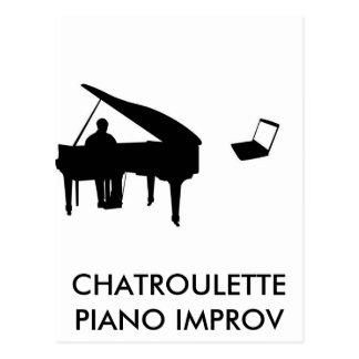 PIANO IMPROV DE CHATROULETTE TARJETAS POSTALES