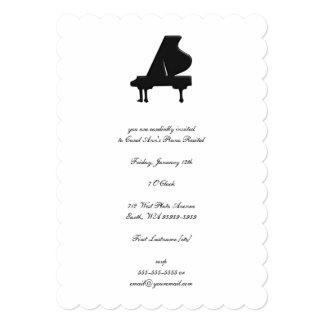 Piano Invitación 12,7 X 17,8 Cm