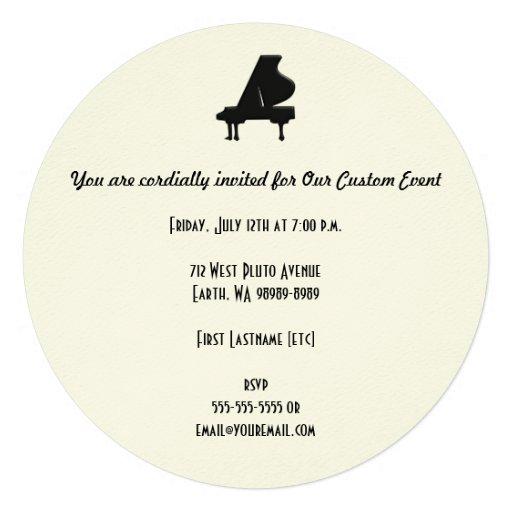 Piano Invitación Personalizada