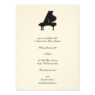 Piano Invitación 13,9 X 19,0 Cm