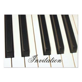 Piano Keys_ Invitación 12,7 X 17,8 Cm