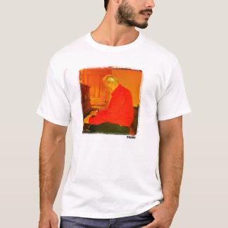 Piano Man imprimió la camiseta del arte